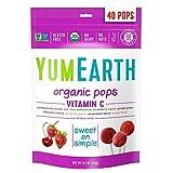 YumEarth Organic Vitamin C Lollipops, 40 lollipops