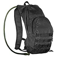 Black Color Hydration Pack Backpack 2.5 Liter (84oz) Bladder for Cycling, Moutain Biking, Snowboarding, Hiking, and Great Outdoors
