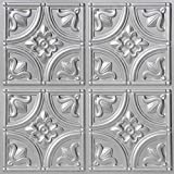 从简单到美丽的时光 148sr-24x24-25 小郁金香天花板砖,银色,25 Siver 148sr-24x24-25