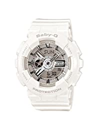 给她的礼物 CASIO 卡西欧 Baby-G系列 纯白大方 电子女士手表 BA-110-7A3DR