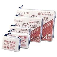 Nutom(诺塔姆) 网眼袋 带贴布 透明 5种装袋 蓝色 UNCM-5P#36
