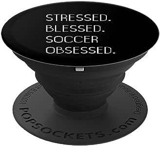 压力祝福足球 Obsessed PopSockets 手机和平板电脑握架260027  黑色