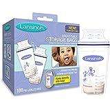 Lansinoh母乳储存袋,100计数,不含双酚a自由和BPS (包装可能不同)