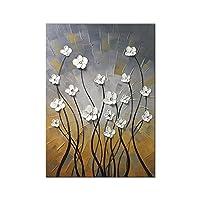 Wieco 艺术早晨舞 * 手绘花卉油画 帆布墙艺术 现代拉伸和加框优雅抽象花卉艺术品 可悬挂在客厅家居装饰墙饰