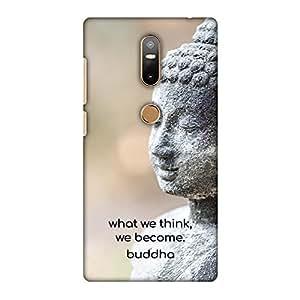 AMZER 修身款手工制作设计师印花硬质壳后盖和屏幕清洁套件皮肤适用于 Lenovo Phab2 PlusAMZ601040275136 Buddha Quote 7