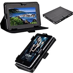 """7"""" inch Universal PU Leather Case Carry Stand Cover For All Tablets"""