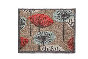 Hug Rug T140 Eco-Friendly Absorbent Dirt Trapping Indoor Washable Mat Flower Heads 25.5-Inch x 33.5-Inch
