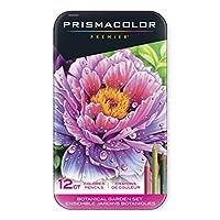 Prismacolor 三福霹雳马 12色铁盒彩铅套装 植物园套装 彩色铅笔 油性彩芯 软质芯材