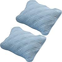 枕垫 2片装 接触冷感 Qmax0.38 *防臭 吸湿排湿 可洗 两用 蓝色 7099154F