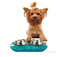 """Kess InHouse Pom Graphic Design """"Oceania"""" Feeding Mat for Pet Bowl, 18 by 13-Inch"""