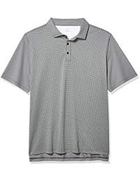 Bobby Jones 高尔夫服装 - 短袖 XH2O 网格提花性能 Polo 衫 男式