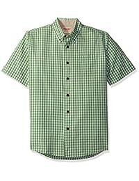 牧马人 authentics 男式 big-tall 短袖经典格子衬衫