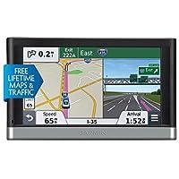Garmin 佳明 nüvi 24 LMT 4.3 英寸便携式车辆 GPS 终身地图和交通工具010-01124-30 With Voice Activation & Bluetooth 6.20in. x 4.30in. x 2.80in. 黑色