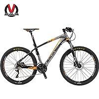 SAVA萨瓦碳纤维山地自行车26寸迪卡超轻30速油刹男女单车XT后拨