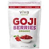 Viva Naturals Premium Himalayan Organic Goji Berries, Noticeably Larger and Juicier, 1lb
