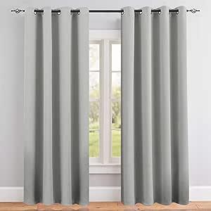 遮光窗帘适用于卧室 Triple 编织窗帘布适用于客厅变暗窗帘帘幔隔热窗帘顶部孔环1面板