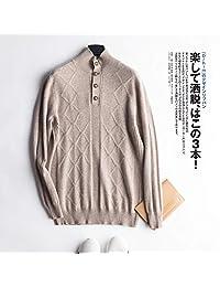 唐岚 羊绒衫男半高领针织衫短款纯色宽松百搭打底薄款针织毛衣毛衫秋冬