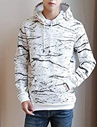 Goralon 秋冬男士上衣连帽卫衣男外套韩版休闲运动迷彩外衣 港风帅气外套男帽衫卫衣