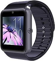 CNPGD 藍牙智能手表(部分兼容 IOS IPHONE)+(完全兼容安卓智能手機)三星、LG、Galaxy Note、Nexus、Sony+無鎖手表手機 + 健身追蹤器相機計步器 適合兒童、男士和女士683405404