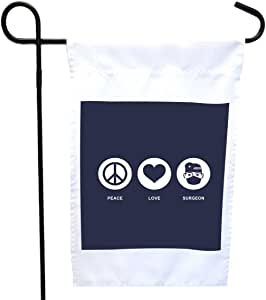 Rikki Knight 和平爱**蓝色房子或花园旗帜,30.48 x 45.72 cm 旗帜尺寸带 27.94 x 27.94 cm 图像