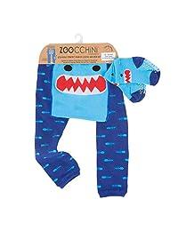 Zoocchini【日本正品】打底裤&短袜 鲨鱼的鲨鱼 蓝色 12-18ヶ月
