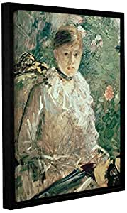 """Tremont Hill Berthe Morisot""""Young Ladystrait Of A Young Lady""""画廊装裱地板画框油画 绿色 08X10"""" 1mor004a0810f"""