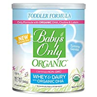 Baby's Only Organic Non-GMO Dairy Whey Protein with DHA & ARA Todder Formula, 12.7 oz