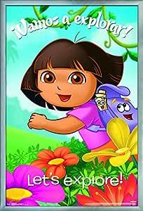 "Trends International Dora - Explore 海报和海报夹 Silver Framed Version 22.375"" x 34"" FR13157SIL22X34"