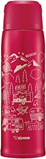 ZOJIRUSHI 象印 不銹鋼水杯 帶杯子 保溫保冷杯 1.03L 紅色 SJ-JS10-RA