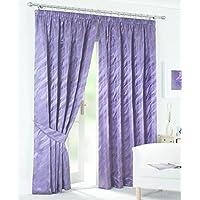 家瑞家纺 外贸出口欧洲英国挂钩双层尾单成品窗帘清仓客厅卧室提花 宽2.29*高2.29*1片 紫色