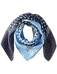 [光束 设计] 围巾 丝绸 蓝色 50606503D 日本 64cm×64cm (FREE サイズ)