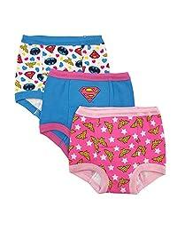 DC Comics 幼儿正义联盟女孩训练裤 3 条装