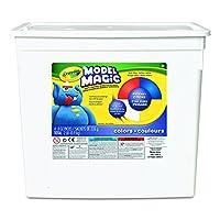 Crayola 魔法模型,主要颜色(红色/黄色/蓝色/白色) 8 盎司包装(4 只装桶)无残留,柔软轻质建模材料适合儿童 4 岁及以上儿童,易上色和装饰,透气快干平滑