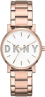 DKNY 女式模拟石英手表不锈钢表带 NY2654