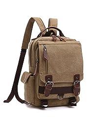 學校背包,復古旅行背包,男式/女式,帆布學院書包日包