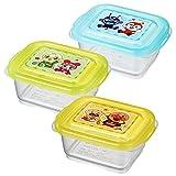 LEC 面包超人 婴儿容器 中 (120ml) 3个装 (微波炉・洗碗机OK)