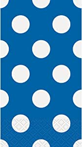 Unique 40 Count Polka Dot Paper Guest Towels 皇室蓝 40 Pack