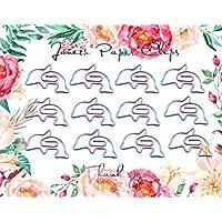 工业革命爱心钻石戒指咖啡杯信封皇冠形状策划纸夹书签夹适用于办公室学校家庭(玫瑰金) Dolphin - Multi-color