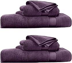 Ralph Lauren Wescott Noble 紫色 6 件毛巾套裝(2 條浴巾,2 條手巾,2 條洗衣布)