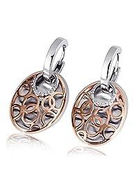 Goldmaid 亚马逊进口直采 德国品牌 阿拉伯的太阳女士 925纯银镶30颗白色方晶皓石 女士耳环Fo O6691S