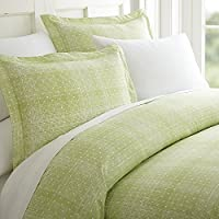 Celine Linen 奢华丝滑柔软舒适 1500 支埃及棉床单套装波点设计床笠床单和枕套防皱,单人床,全尺寸,大号双人床,加州大号双人床,加州大号双人床,加州大号双人床,加州大号双人床,加州大号双人床 淡紫色(Sage) 两个 233RW-PolkaDot-Sheets-Twin MossSage
