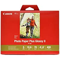 "Canon 佳能 CanonInk相纸Plus Glossy II 4""x 6""(10.16cm x15.24cm) 400张(1432C007)"