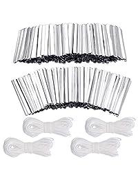 250 件 85 毫米胶粘铝条鼻梁架鼻梁架铝线条带 109 码3 毫米弹性绳带耳环绳适用于 DIY 手工制作