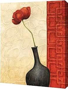 "PrintArt GW-POD-11-CBN-011-28x36""Rouge II"" 来自 Delphine Corbin Gallery Wrapped Giclee 油画艺术微喷画布艺术印画 无框艺术微喷 帆布艺术印刷品 9"" x 12"" GW-POD-11-CBN-011-9x12"