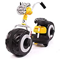 孩子家大轮儿童电动摩托车可坐宝宝三轮车童车大号小孩四轮电瓶车玩具车-8518