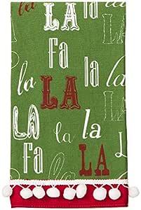 C.R. Gibson Holiday Tea Towel, Fa La La La