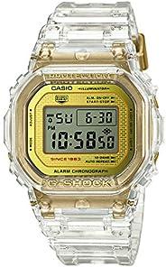 CASIO卡西欧 G-SHOCK 腕表 冰川金 35 周年纪念 透明镂空 耐冲击 DW-5035E-7JR