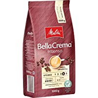 Melitta 美乐家 BellaCrema Melitta 全咖啡豆,100%阿拉伯,强烈的芳香,浓郁的口味,强烈烘焙度,4,BellaCrema Intenso,1 千克