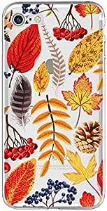 iPhone 8/iPhone 7 手机壳(4.7 英寸),炫酷的透明水果和花朵设计柔韧的软橡胶 TPU 手机壳 iPhone 8/iPhone 7 Fall Leaf Mix