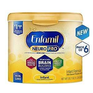 Enfamil 美赞臣 NeuroPro婴儿配方奶粉(0-12个月) 6罐装(587g*6)(奶粉桶可重复使用)